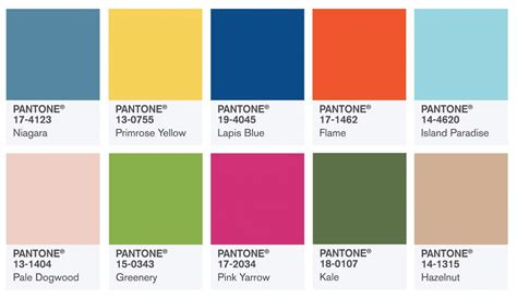 Pantone Color Chart 2017 | pantone spring 2017 color report home gallery storeshome