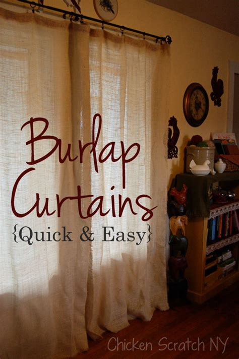 shut the curtains easy diy burlap curtains shut the front door i love