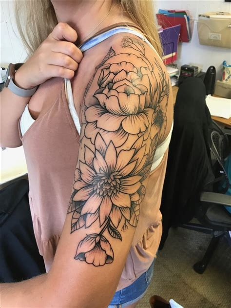 half sleeve flower tattoo designs the 25 best half sleeve tattoos ideas on half