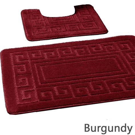 burgundy bathroom sets 2pc jacquard greek bath set burgundy