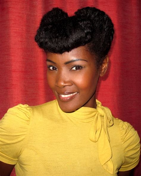 black women in their 40s vintage natural updo black women 40 s hair makeup and