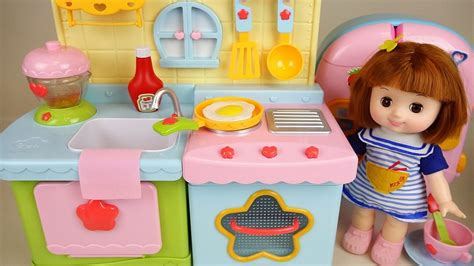 play toys baby doll kitchen and play doh cooking toys play