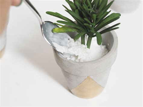 succulent planter diy gold concrete succulent planters diy bang on style