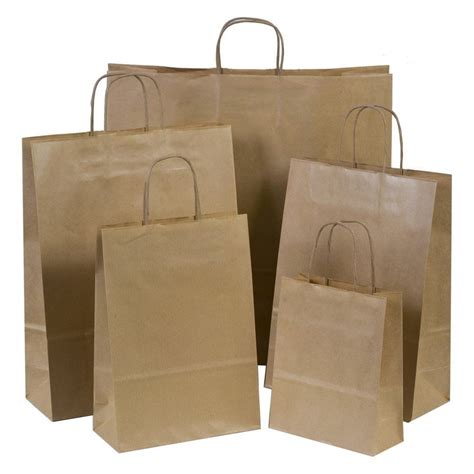 paper craft bags brown paper gift carrier bags with twisted handles choose