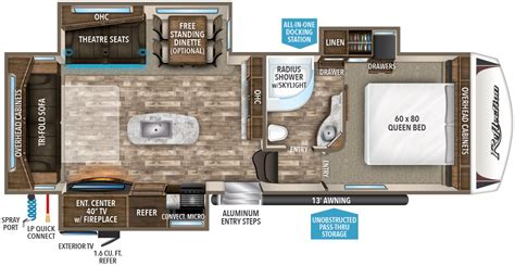 style floor plans 2018 reflection fifth wheel 29rs grand design rv