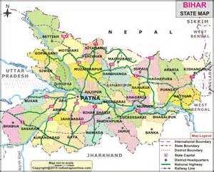 bihar map bihar state map