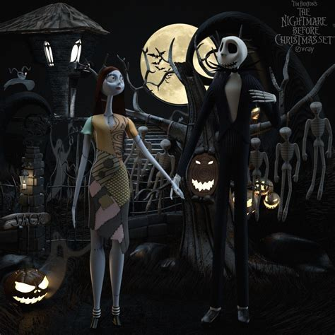 Before The ave the nightmare before set sally 3d model