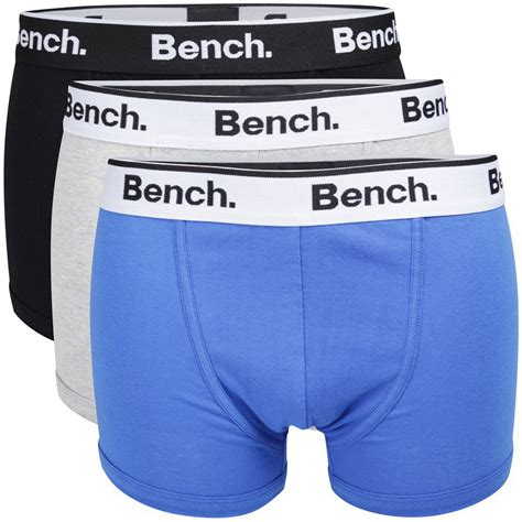 bench underwear womens bench men s 3 pack keddie boxers 3 colour pack blue