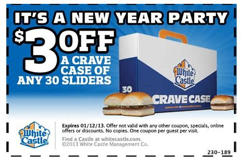 white castles coupons printable