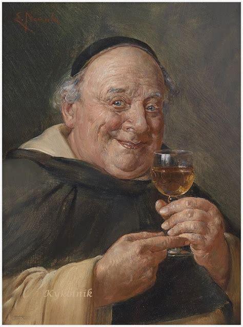 Setrika 5 In 1 quot monk in the wine cellar quot ernst nowak 1851 1919 drinks