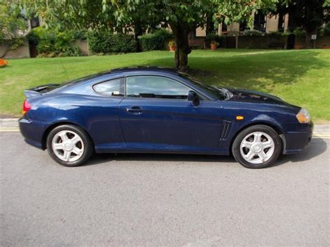 used hyundai coupe 2003 blue paint petrol 1 6 s 3dr for