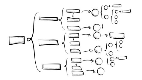sketch flowchart drawing a flow chart on an interactive whiteboard