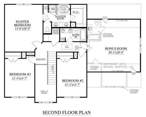 master bedroom upstairs floor plans the carver plan 2304 second floor plans traditional two