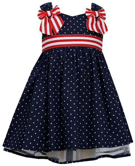 Dress Ribbon Dot bonnie jean navy dot dress with white ribbon