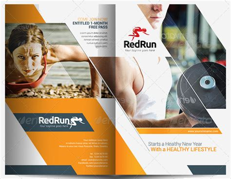 sports brochure templates sports fitness brochures free premium