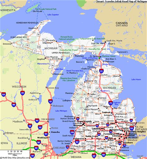 michigan state map map of michigan