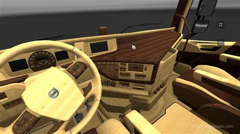 volvo 2012 black orange interior ets 2 mods wood interior for volvo fh 2012 euro truck simulator 2 spot