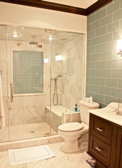 downstairs bathroom ideas downstairs bath the large scale glass tiles are on the walls home decoras