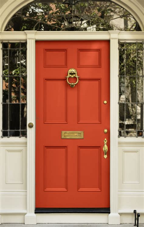 paint colors exterior for red door what color does a high wasp paint her front door for good