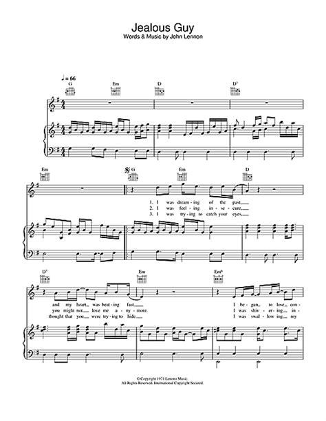 tutorial piano jealous guy jealous guy partition par john lennon piano chant et