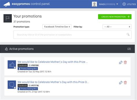 Free Facebook Sweepstakes App - application to create sweepstakes and export comments and likes from a facebook post