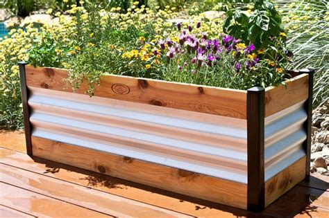 Raised Flower Planters by Raisedbeds Modern Raised Bed Garden Planter 209 00