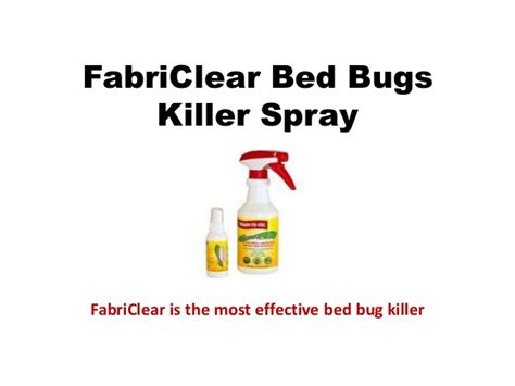 Fabriclear Bed Bug Spray Reviews by Fabriclear Review Best Bed Bug Spray