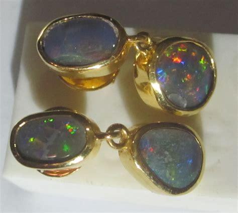 Handmade Opal Jewelry - earrings opals black opal earrings handmade earrings opal