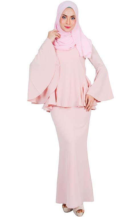 Baju Kebaya Set bashira modern baju kurung set blush baju kurung