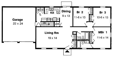 simple 1 floor house plans simple one story 1153g 1st floor master suite cad