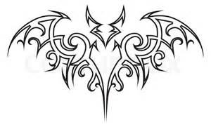 batman motif template vector bat tribal stock vector colourbox