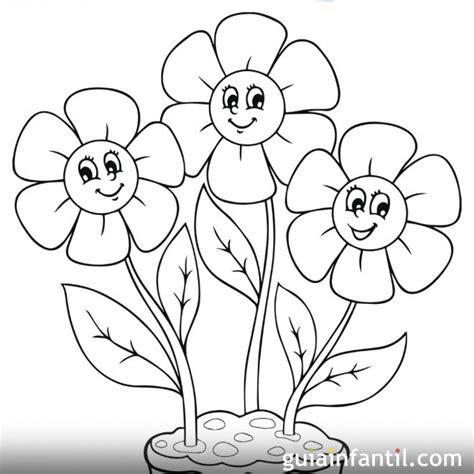dibujos infantiles para colorear de flores dibujo de flores de primavera para colorear