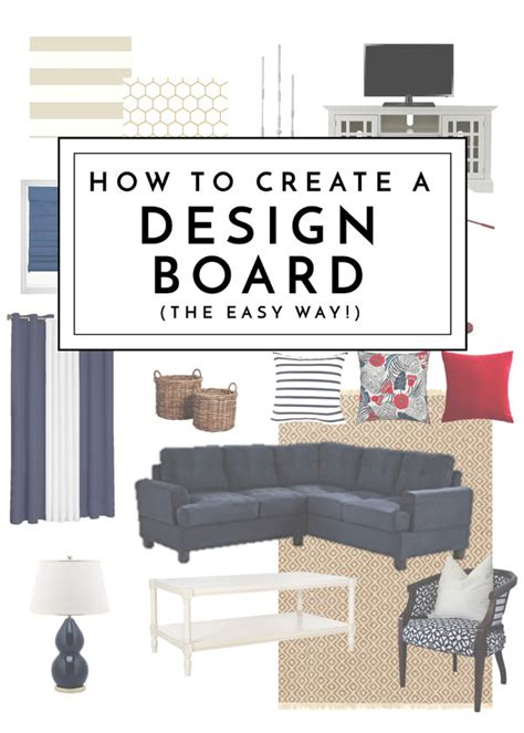 create  design board  easy   homes