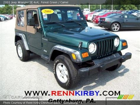 2001 Green Jeep Forest Green 2001 Jeep Wrangler Se 4x4 Camel Interior