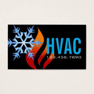 hvac efficiency card template hvac business cards templates zazzle