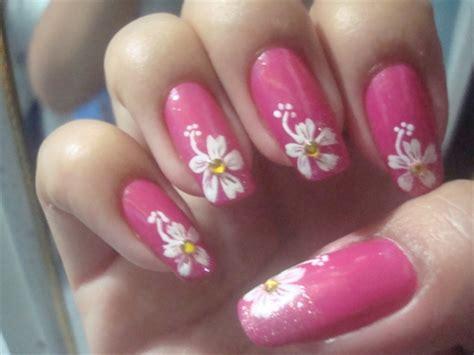 hibiscus nail art tutorial hawaiian flower nail art flowers ideas for review