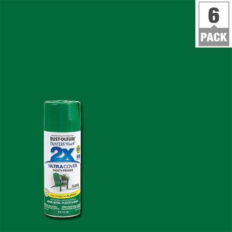 house spray painter rust oleum painter s touch 2x 12 oz gloss meadow green