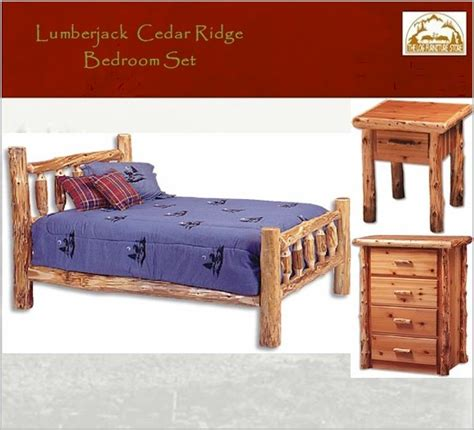 cedar ridge log bedroom set 4 pc