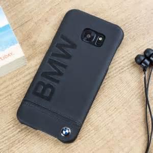 bmw genuine leather samsung galaxy s7 edge hard case black