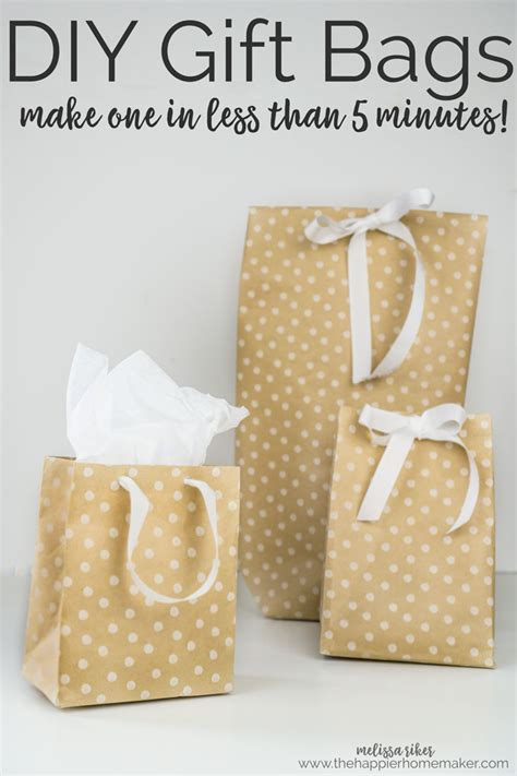 How To Make Gift Bag From Wrapping Paper - diy gift bags from wrapping paper the happier homemaker