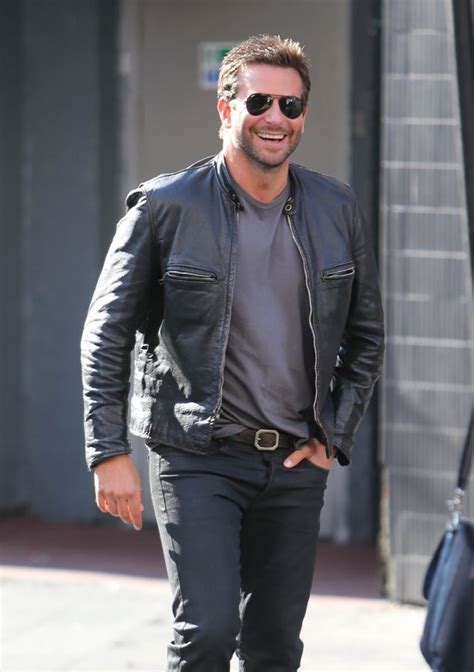 Dress Siti Furing bradley cooper is a leather clad hunk as he runs around