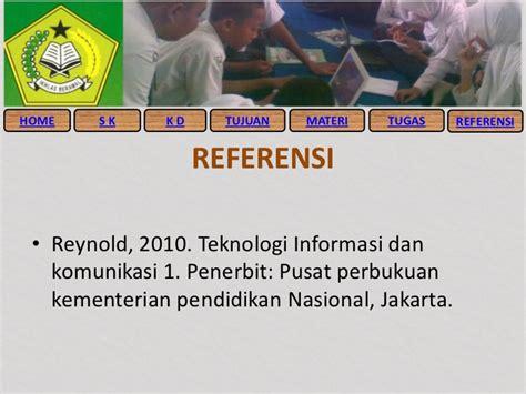 Pendidikan Teknologi Informasi Dan Komunikasi peralatan teknologi informasi dan komunikasi