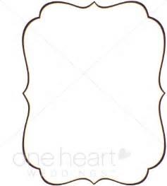 frame outline template stylish bracket clipart wedding borders