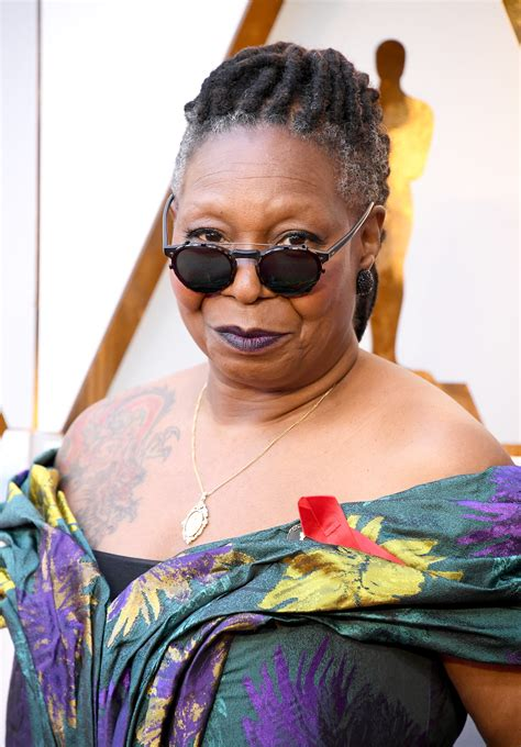whoopi tattoo whoopi goldberg s at the 2018 oscars carpet