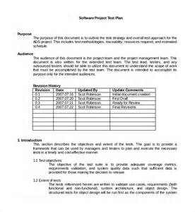 testing plan template sle testing plan template 8 free documents in pdf word