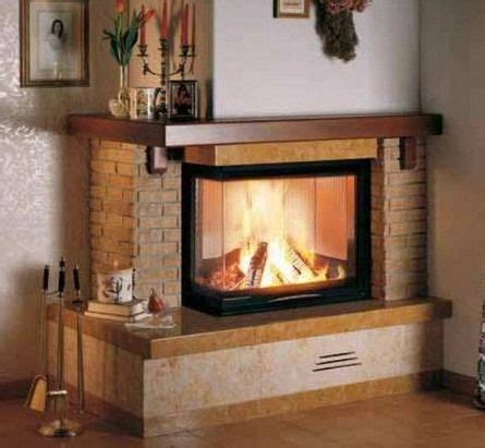 idea camino two sided brick corner fireplace dessign family