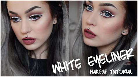 tutorial eyeliner white white eyeliner makeup tutorial evelina forsell youtube