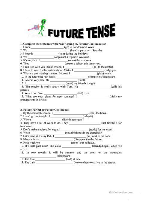 Future tense exercises worksheet - Free ESL printable