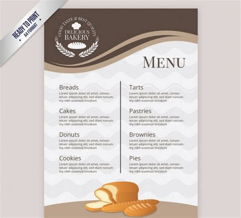 30 bakery menu template free psd ai indesign and eps