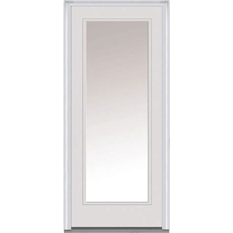 36 Exterior Door With Window Mmi Door 36 In X 80 In Clear Glass Right Lite Classic Primed Steel Prehung Front